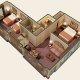 Quality Suites - Royal Parc 2 bedroom floor plan
