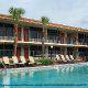 Outdoor Pool View At Ramada Gateway Hotel in Orlando/Kissimmee, Florida.