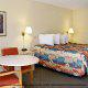 Single Hotel Room View At Ramada Gateway Hotel in Orlando/Kissimmee, Florida.
