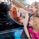 Up close encounters with sealions make a vacation special to Seaworld in Orlando, Florida.