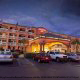 Exterior Night view at Hampton Inn Historic District in St. Augustine, Florida. Enjoy quality accommodations in this charming location during your New Years Family Getaway.