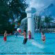 Kids play in the pool at the Star Island Resort and Club in Orlando Florida.