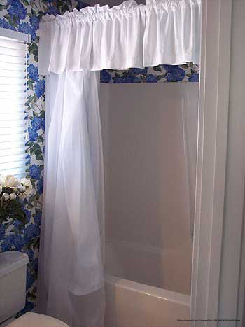 Shower in one of the suites at Kings Creek Plantation in Williamsburg, VA.