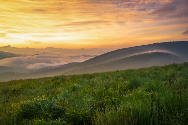 Colorful Smoky Mountain Sunrise