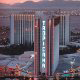 Bird Eye view of the Tropicana Hotel and Casino in Las Vegas, NV. Grab the opportunity for a helicopter flight during your Valentines Day Getaway.