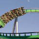 Thrill seekers flock to the Incredible Hulk roller coaster at Universal Studios in Orlando.