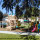 Playground area for the kids at The Florida Vacation Villas shows its family friendly appeal.