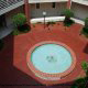 Courtyard fountain view from the balcony at the Wild Wing Resort in Myrtle Beach South Carolina.