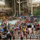 Humongous water park picture with many guests at the Wilderness Stone Hill Lodge in Pigeon Forge Tennessee.