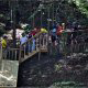One of the mounting stations at zipline adventures in Pigeon Forge Tennessee.