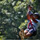 After a quick safety lesson, riders enjoy with confidence at zipline adventures in Pigeon Forge Tennessee.